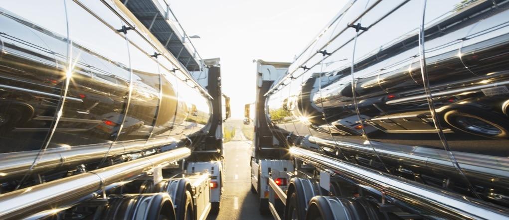 Two cargo trucks