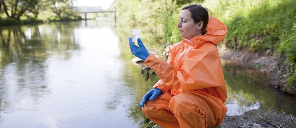 Scientist testing public water