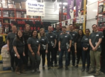 Employees volunteering at Calgary Food Bank