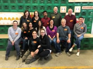 Toronto team volunteers at Daily Bread Food Bank