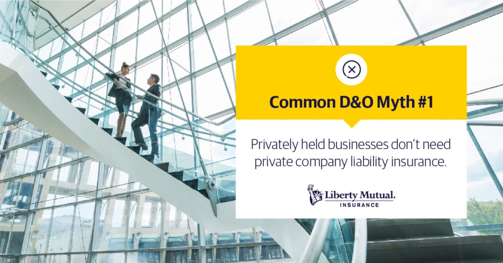 Business people talking on a staircase Common D&O Myth #2: The largest expense in a claim is the judgment or settlement amount.